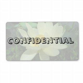 Confidential Top Secret Yellow water lily flower g Personalized