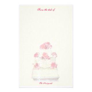 Wedding Cake Custom Paper Stationery Design