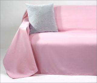 Tagesdecke Plaid Überwurf Sofaüberwurf 210x280cm rosa