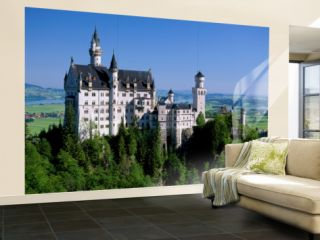 Neuschwanstein Castle, Bavaria, Germany Wall Mural – Large by Steve Vidler