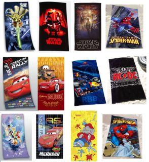 Auswahl Strandtuch Badetuch Decke Star Wars Cars Spiderman Red Bull