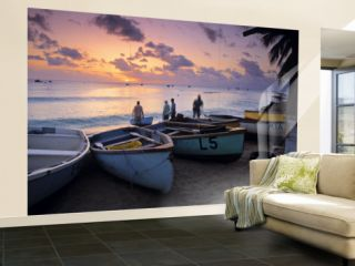 West Coast of Barbados, Caribbean Wall Mural – Large by Doug Pearson