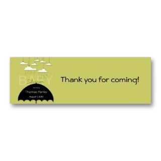 Umbrella Baby Shower Favor Tag Business Card Templates