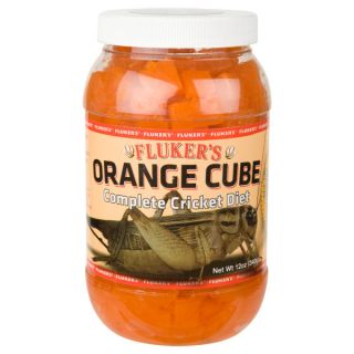 Fluker's Orange Cube Complete Cricket Diet   Food   Reptile