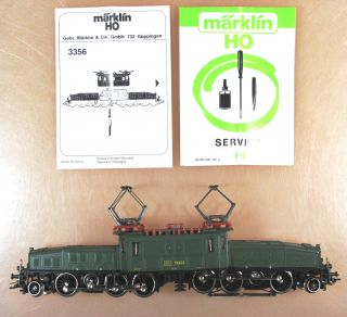 Marklin HO Scale 3356 SBB Electric Loco Crocodile BOXED!!! 13302