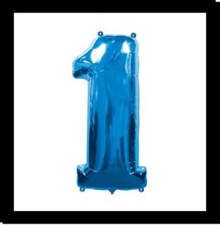 JUMBO BLUE NUMBER ONE 1ST birthday balloons decorations FREE SHIP