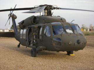 A UH 60L Black Hawk with Twin M240G Machine Guns Photographic Print