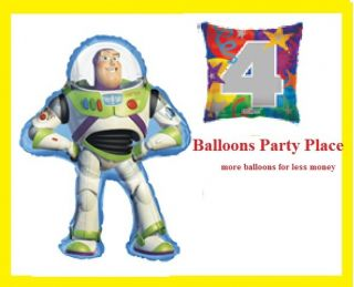 TOY STORY BUZZ 1ST 2nd 3rd 4th birthday party balloons decoration