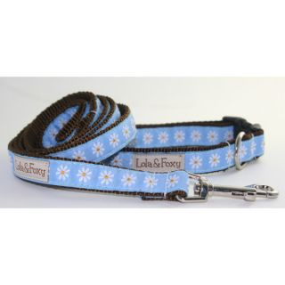 Lola & Foxy Nylon Dog Collars   Blue Dasies   Collars   Collars, Harnesses & Leashes