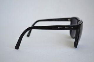 DOLCE & GABBANA Black+Grey Striped Cutout Sunglasses DG 4068 1564/87