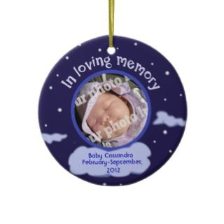 Baby Custom Photo Personalized Memorial for Babies Ornaments