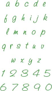 HandWriting Fonts Machine Embroidery Designs CD 4 Font