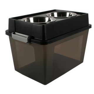 Iris Elevated Pet Feeders and Storage   Stainless Steel   Bowls & Feeding Accessories