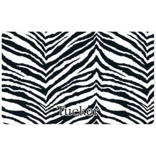 Drymate� Exotic Zebra Print Personalized Pet Mat   Cat   Boutique