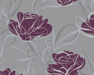 Lila rosen vintage tapete beste bildideen zu hause design - Tapete lila grau ...