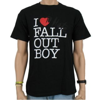 Fall Out Boy   I Love Band T Shirt, black