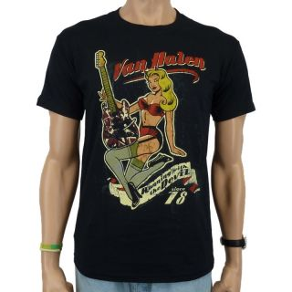 Van Halen   Pin Up Guitar Band T Shirt, schwarz