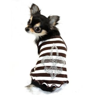 Hip Doggie Fl de Lis Tank Top for Dogs   Clothing & Accessories   Dog