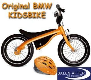 Original BMW KidsBike mit Helm Kids Bike ORANGE Fahrrad Laufrad