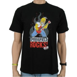 The Simpsons   Springfield Rocks, T Shirt, black