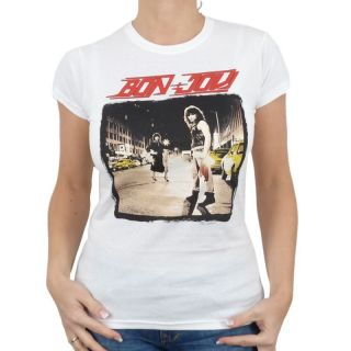 Bon Jovi   Run Band Girlie Shirt, weiss