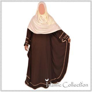 Farasha Braun / Beige Jilbab Hijab Islamische Kleidung 16 3003