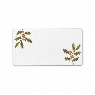 Old Fashion Holiday Christmas Vintage Holly Branch Personalized