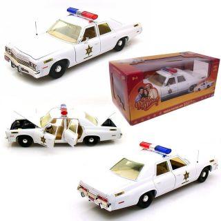 DODGE MONACO ROSCO PATROL POLICE CAR 1/18 THE DUKES OF HAZZARD MOVIE