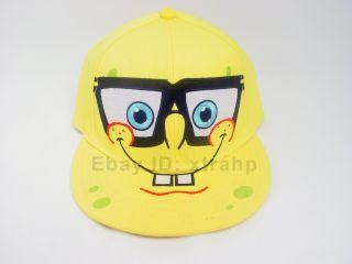 SpongeBob Nerd Glass Baseball Cap Licensed Flex Fit Hat