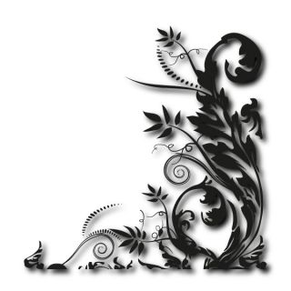 Eckwand Tattoo Pflanzenmuster Motiv Ranke Aufkleber Blumen