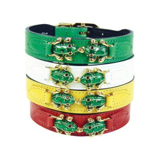 Hartman & Rose Leap Frog Collection Dog Collar   Collars   Collars, Harnesses & Leashes
