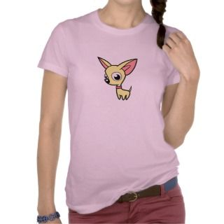 Cartoon Chihuahua (cream) t shirts by SugarVsSpice