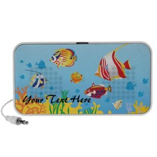 Tropical Fish Fantasy Template Doodle iPhone Speaker