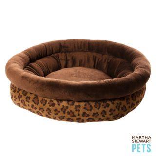 Martha Stewart Pets™ Round Leopard Bolster Dog Bed   Martha Stewart Pets   Dog