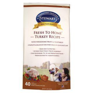 Stewart� Raw Naturals™ Fresh to Home™ Turkey Recipe Dog Food Patties   Dog