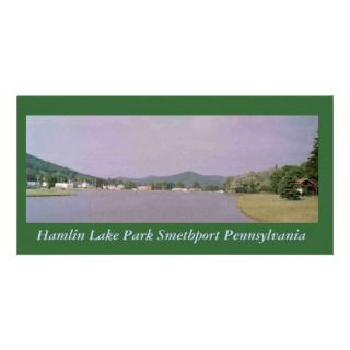 Hamlin Lake Park Smethport Postcard Custom Photo Card