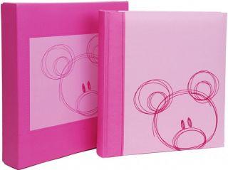 HENZO Baby Fotoalbum rosa & Aufbewahrungsbox Teddy Babyalbum Album