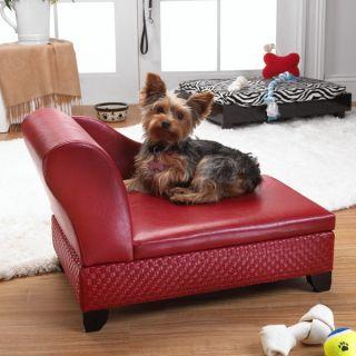 Enchanted Home Pet Basket Weave Storage Pet Bed Red   Beds   Dog