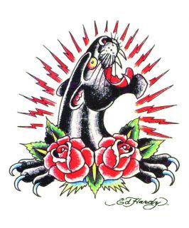 Ed Hardy Tattoo Panther Kopf inkl. Sammelkarte   Einmal Tattoo von Art