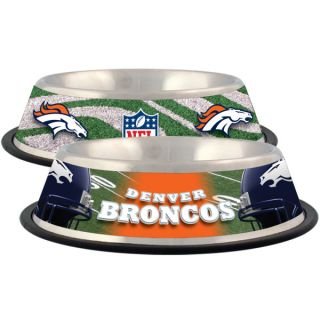 Denver Broncos Stainless Steel Pet Bowl   Team Shop   Dog