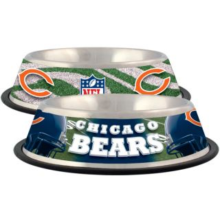 Chicago Bears Stainless Steel Pet Bowl   Team Shop   Dog