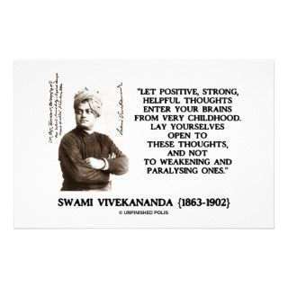Swami Vivekananda Positive Strong Helpful Thoughts Stationery Design