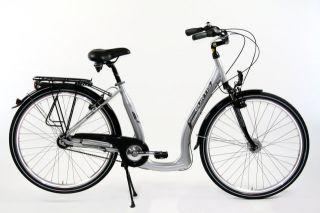 28 Alu Damen Citybike Fahrrad 7 Gang tiefer Einstieg