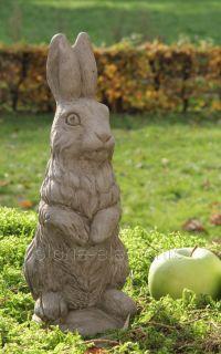 Weihnachtshase Osterhase Rabbit original englischer Sandstein 29 cm
