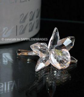 SWAROVSKI CRYSTAL BLUME ORCHIDEE Figurine Silver Crystal Kreation