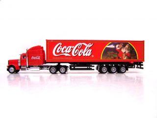 XL COCA COLA Santa Truck LKW Diecast Modell Weihnachten ROT 31cm NEU