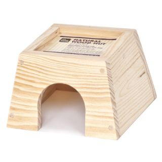 All Living Things® Natural Wood Hut    Cage Accessories   Small Pet