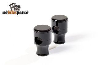 CNC Riser schwarz für 1 Lenker Klemmen Harley Davidson und Custom