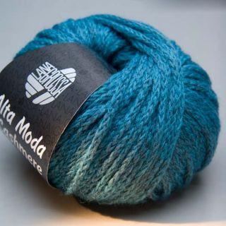 Lana Grossa Alta Moda Cashmere 002 blaugrün 50g Wolle