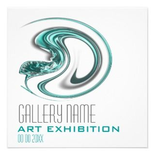 Art show gallery exhibition opening CUSTOMIZE Custom Invitations